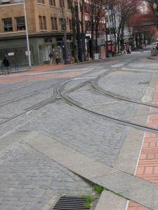 Street car tracks